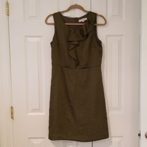 Olive Silky Ann Taylor Loft Dress